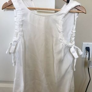 White Tahari blouse